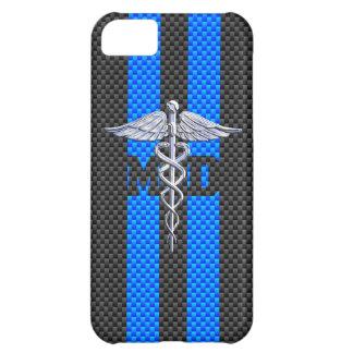 Caduceus do médico DM em listras vibrantes Capa Para iPhone 5C