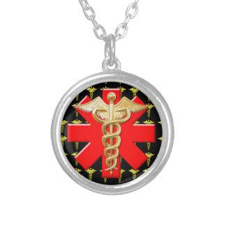 Caduceus do ouro e cruz médica bijuterias personalizadas