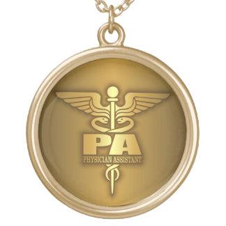 Caduceus do ouro (PA) Colar Banhado A Ouro