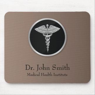 Caduceus médico profissional de prata - Mousepad