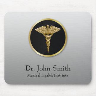 Caduceus médico profissional do ouro - Mousepad