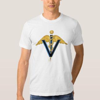 Caduceus veterinário tshirts