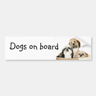 Cães a bordo adesivo para carro