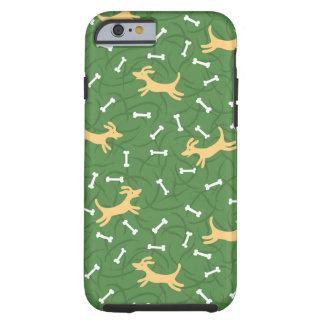 cães afortunados com fundo dos ossos capa tough para iPhone 6