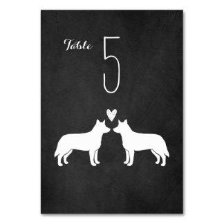 Cães australianos do gado que Wedding o cartão da