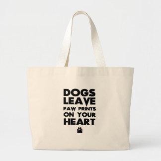 cães bolsa tote grande