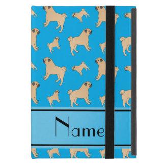 Cães conhecidos personalizados do Pug dos azul-céu iPad Mini Capa