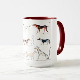 Cães da caneca de Egipto antigo