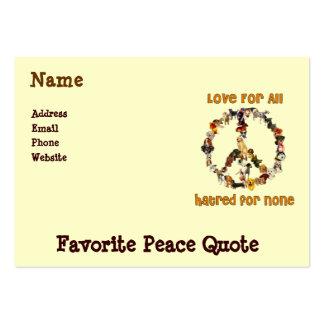 Cães da paz cartão de visita grande