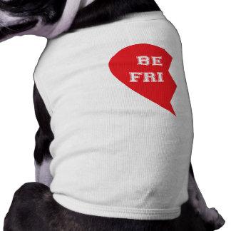 Cães de harmonização do melhor amigo camisa sem mangas para cachorro