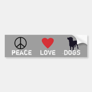 Cães do amor da paz adesivo