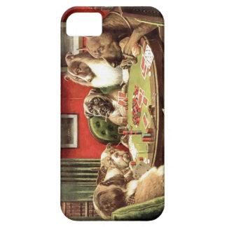 Cães engraçados que jogam o caso do cobrir de capas para iPhone 5