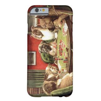 Cães engraçados que jogam o caso do iPhone 6 do Capa Barely There Para iPhone 6