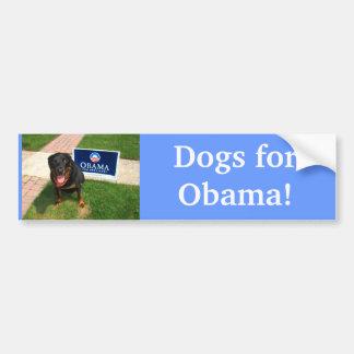 Cães para Obama! Adesivo Para Carro
