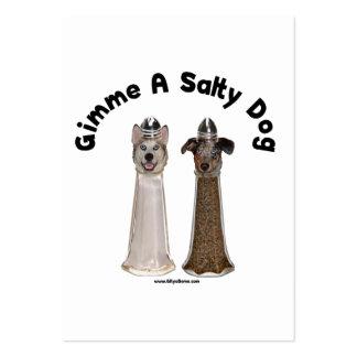 Cães salgados de sal e de pimenta do cão modelo cartoes de visitas