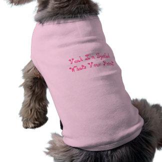 Cães Sassy Camisa Sem Mangas Para Cachorro