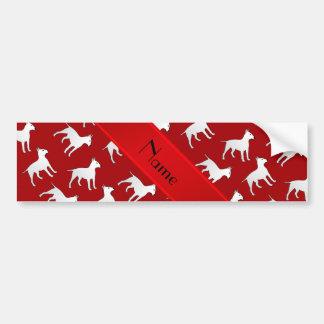 Cães vermelhos conhecidos personalizados de bull adesivo para carro