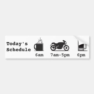 Café 2wheels de Today'sSchedule e cerveja Adesivo Para Carro