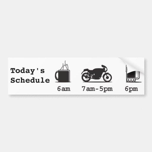 Café 2wheels de Today'sSchedule e cerveja Adesivo