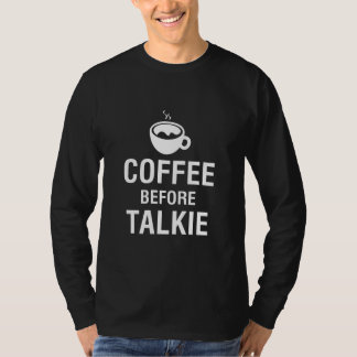 CAFÉ ANTES DO TALKIE CAMISETA
