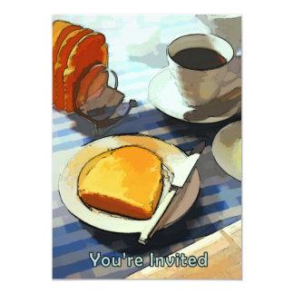Café & brinde do pequeno almoço convite personalizado