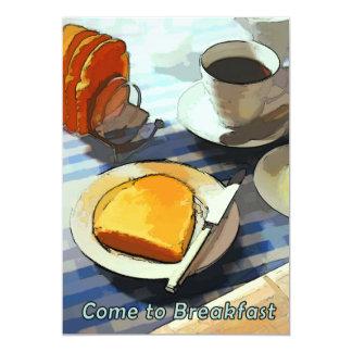 Café & brinde do pequeno almoço convite 12.7 x 17.78cm