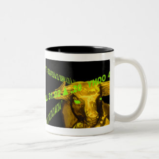 Café Bull do mercado de valores de acção Caneca Dois Tons