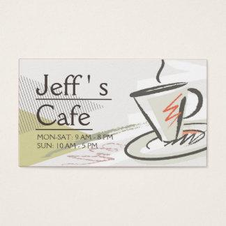 Café/cafetaria Cartão De Visitas