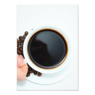 Café, cafetaria, copo, cafeína convite 12.7 x 17.78cm