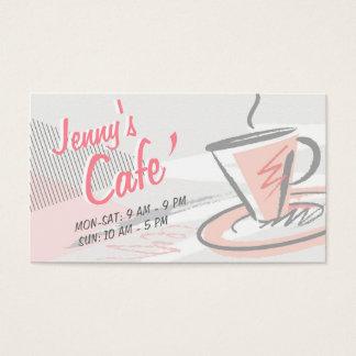 Café/cafetaria do estilo ocasional cartão de visitas
