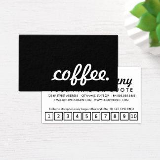 café. cartão de perfurador da lealdade