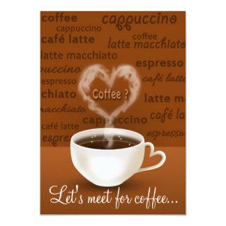 Café? - Cartão do convite