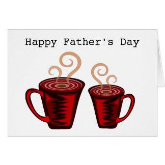 Café com pai cartão comemorativo