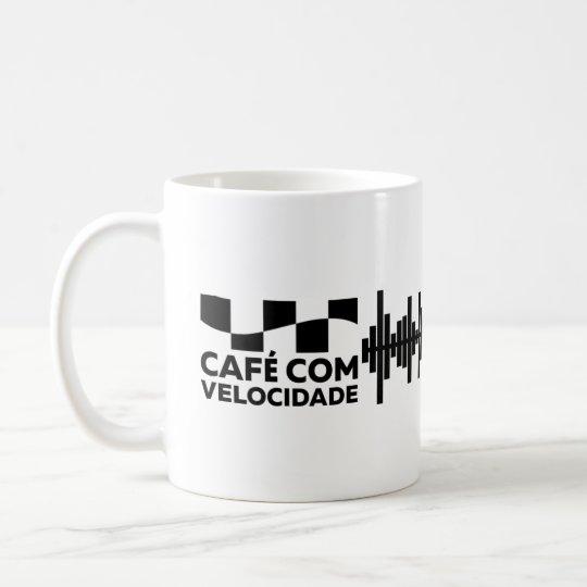 Café com Velocidade - Caneca Branca 325ml clássica