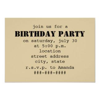 Café congelado a ir festa de aniversário convite 12.7 x 17.78cm