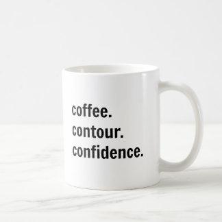 Café. Contorno. Confiança. Caneca de café