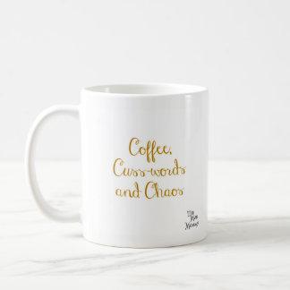 Café, Cuss-palavras e caos - caneca