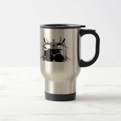 Café da bebida do baterista primeiramente caneca
