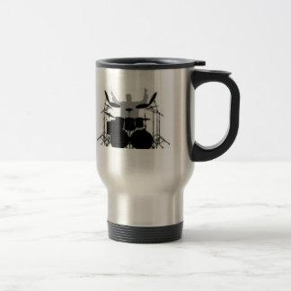 Café da bebida do baterista primeiramente caneca térmica