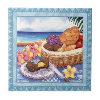 Café da ilha - pequeno almoço Lanai Azulejo Quadrado Pequeno