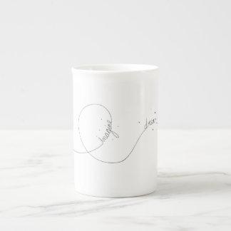 Café da inspiração do avião de papel/caneca do chá xícara de chá