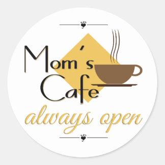 Café da mãe sempre aberto adesivo