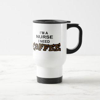Café da necessidade - enfermeira caneca térmica
