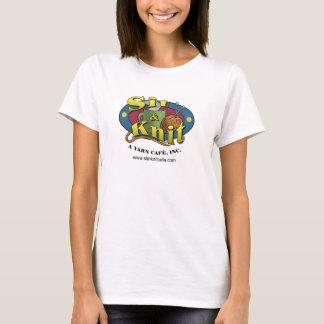 Café de confecção de malhas camiseta
