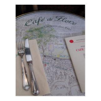 Café de Flore, Paris, France - ajuste de lugar, Cartão Postal