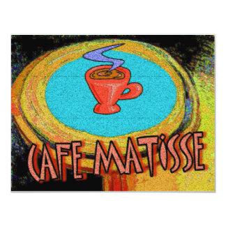 Café de Matisse da mesa de centro Convite 10.79 X 13.97cm