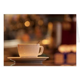 Café do Cappuccino, Veneza, Italia Cartão Comemorativo