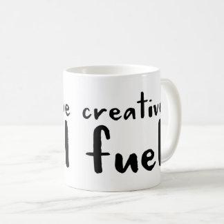 Café do combustível ou caneca criativa do chá