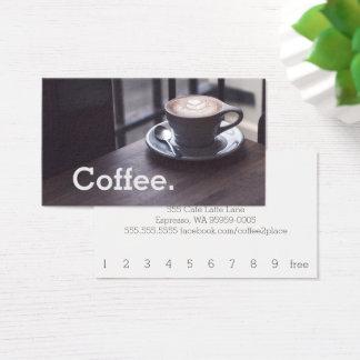 Café do design no cartão simples do café da