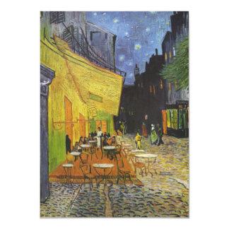 Café do terraço de Van Gogh Convite 11.30 X 15.87cm